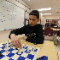 Dominic Silva, 13, an eighth-grader, at Southview Middle School, works on his chess move during a Jan. 30 practice session.