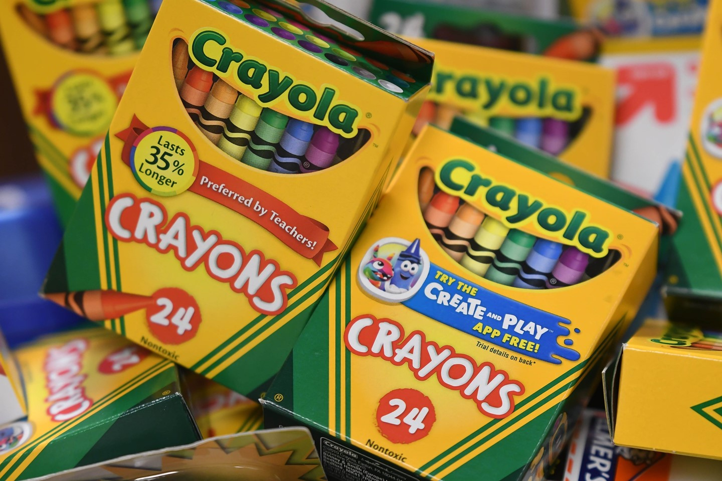 Crayons donated to the district