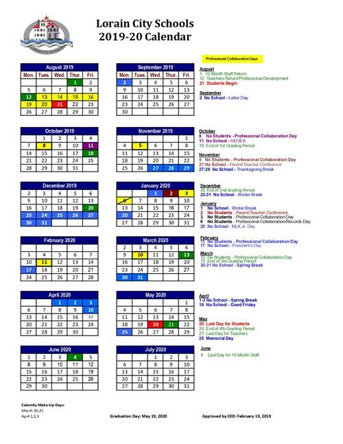 LCS Calendar