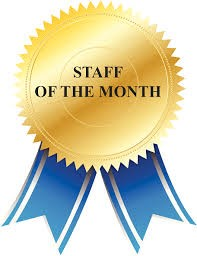 staff of the month ribbon