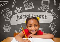 assessment with child smiling